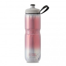 Polar Sport Insulated Water Bottle Fade Red/Silver 710ml