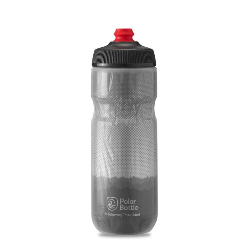 Polar Breakaway Bike Water Bottle Ridge Charcoal/Silver Insulated 590ml