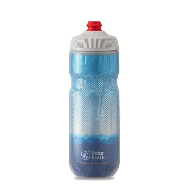 Polar Breakaway Bike Water Bottle Ridge Cobalt Blue/Silver Insulated 590ml