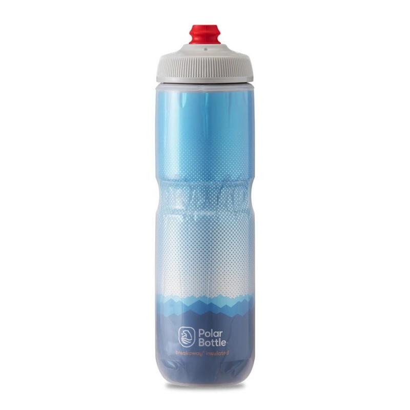 Polar Breakaway Bike Water Bottle Ridge Cobalt Blue/Silver Insulated 710ml