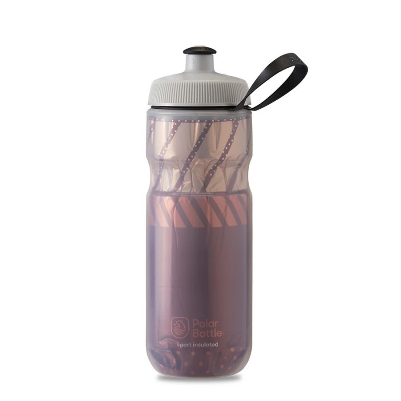 Polar Sport Insulated Water Bottle Tempo Burgundy/Coral 590ml