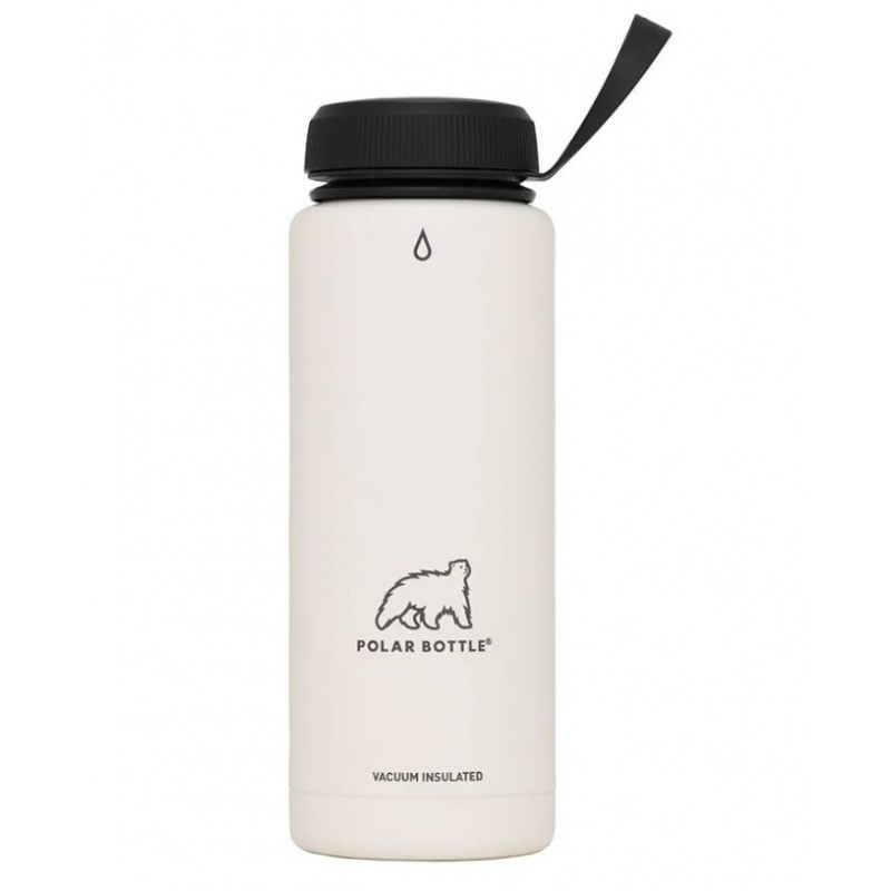 Polar Thermaluxe Insulated SS Water Bottle-Powder Coat White (Simple Cap)-21oz 620ml