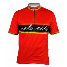 Polaris Velo City Road Cycling Jersey Red