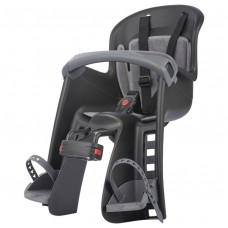 Polisport Bilby Junior Front Head Baby Bicycle Seat Black/Dark Grey