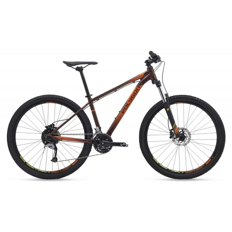 Polygon 27.5 Premier 5 Mountain Bike 2019 Brown Orange