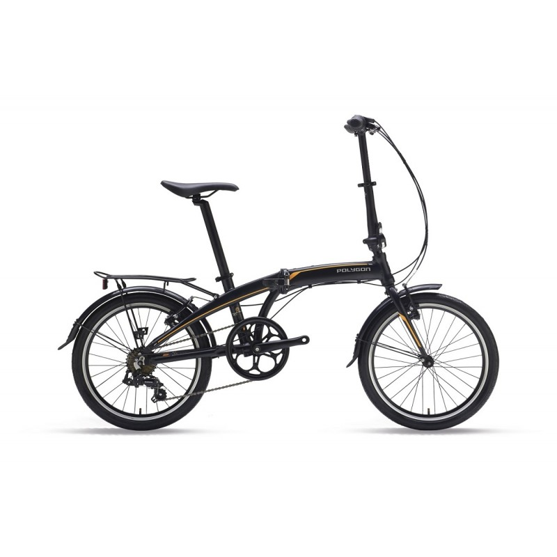 Polygon Urbano 3 Urban Folding Bike 2019 Black Orange