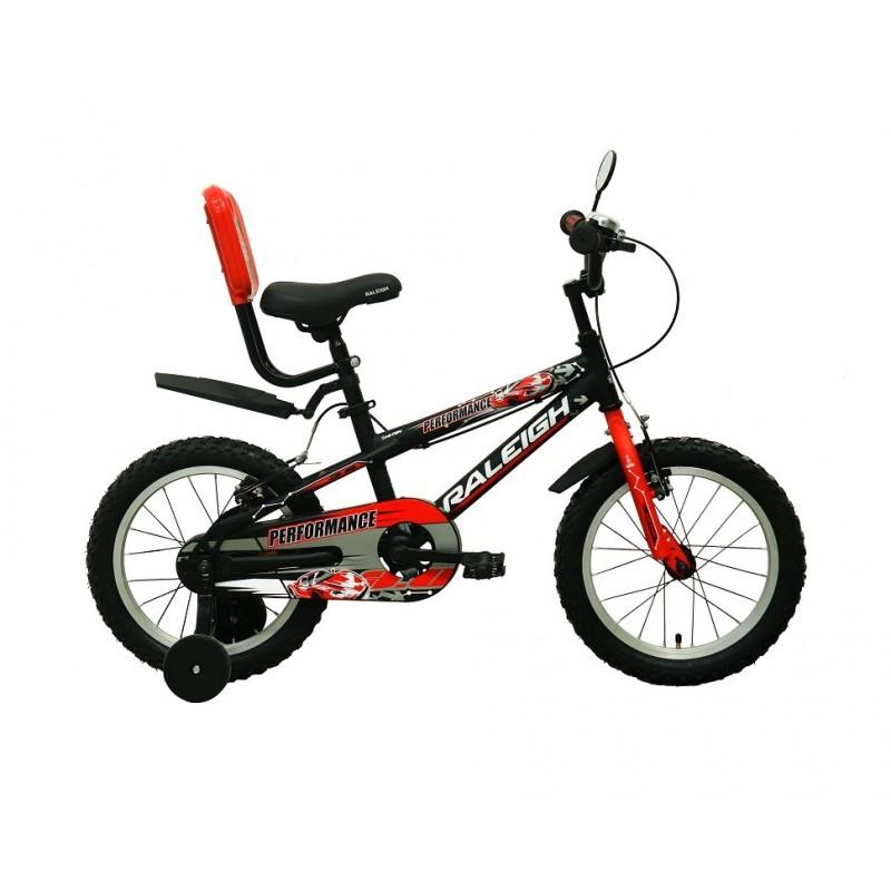 Raleigh 16 Performance Kids Bike Black Red White