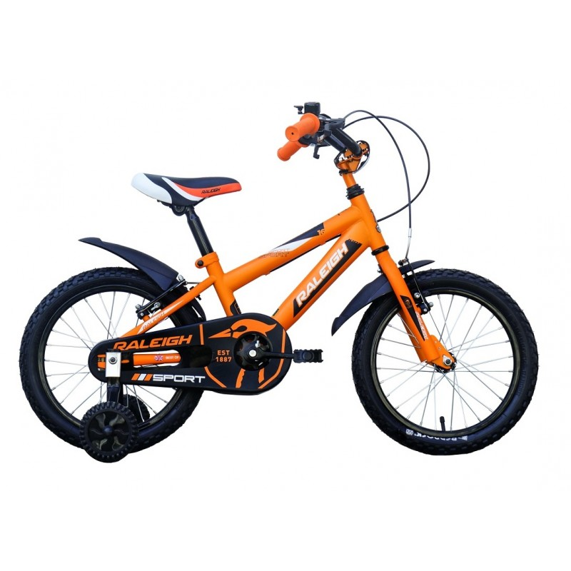 Raleigh 16 Sport Kids Bike Orange Black White