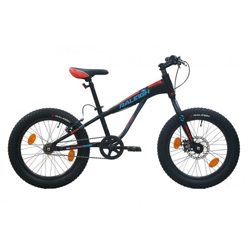 Raleigh 20 Big Sam Kids Bike Black Blue Red