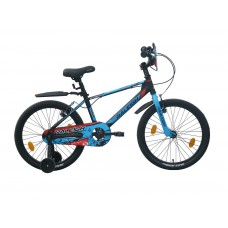 Raleigh 20 Jazzi Kids Bike Black Blue Red