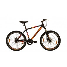 Raleigh 26x18 Proceed Mountain Bike Black Red Orange