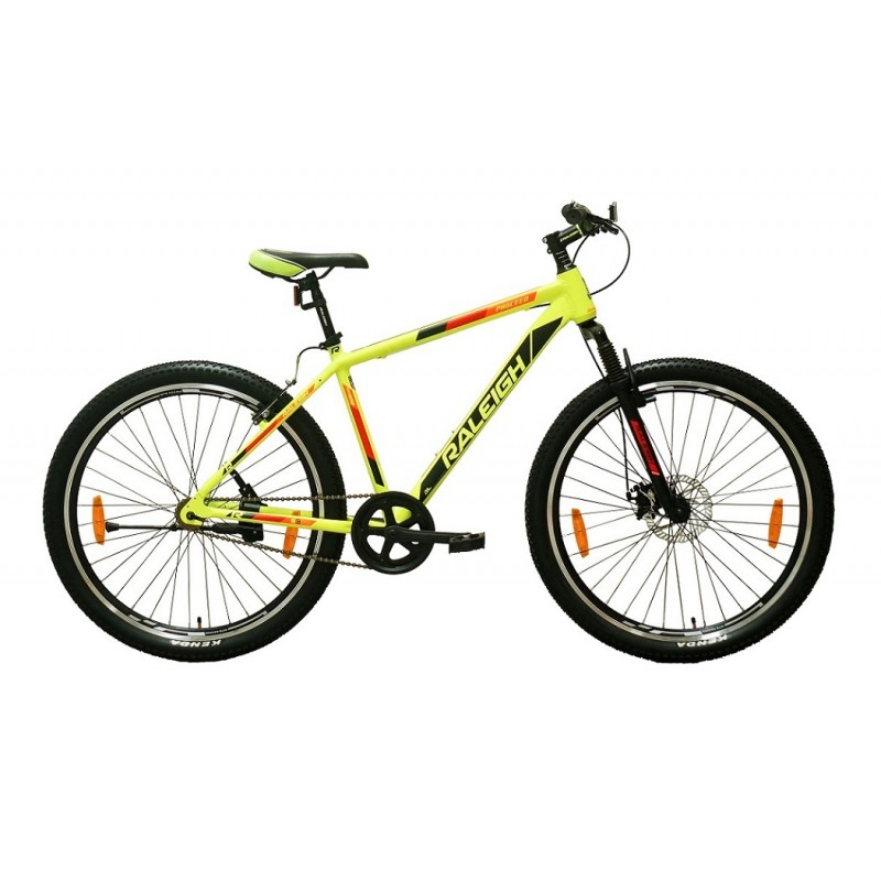 Raleigh 27.5x18 Proceed Mountain Bike Neon Green Orange Red