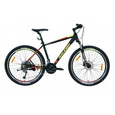 Raleigh 27.5x18 Terrain 20 Mountain Bike Black Red Neon Green