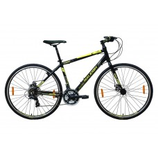 Raleigh Cadent Hybrid Bike Black Neon Green Grey