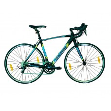 Raleigh Merit Road Bike Black Blue Neon Green