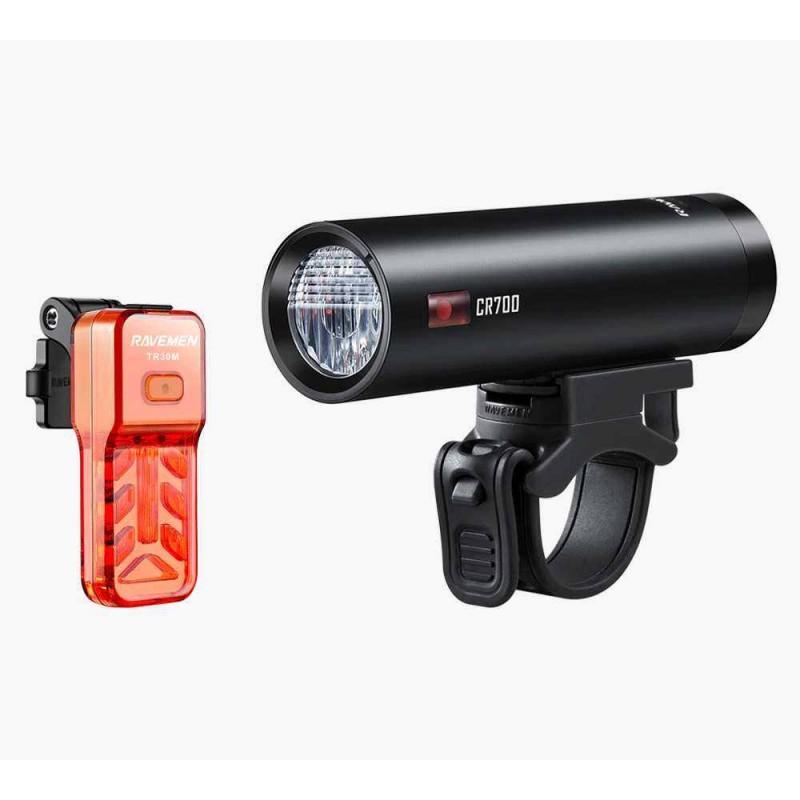 Ravemen LS-CT03 (CR700 & TR30M) Light Set Black Red