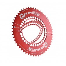 Rotor Q Ring Outer Chain Ring Red Aero 50T-110BCD