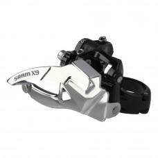 SRAM X9 Front Derailleur Dual Pull High Clamp 31.8