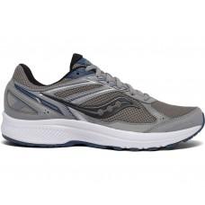 Saucony Cohesion 14 Men's Running Shoe Grey/Blue