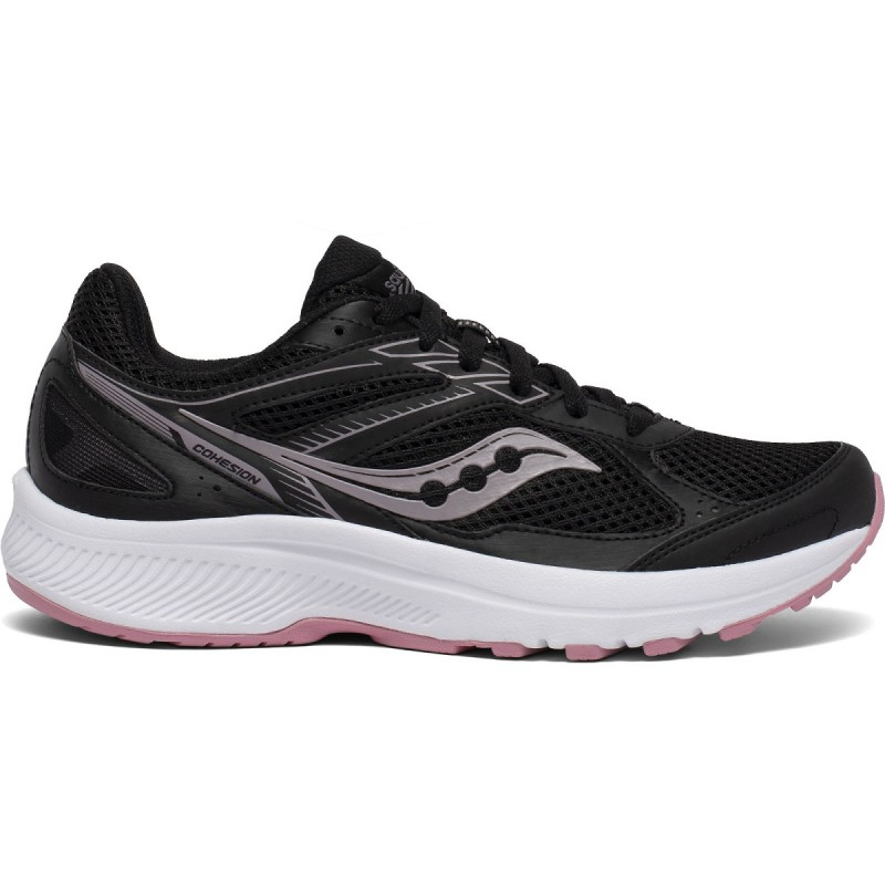 Saucony Cohesion 14 Wide Women's Running Shoe Black/Pink