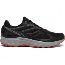 Saucony Cohesion TR14 Wide Men's Running Shoe Black/Tomato