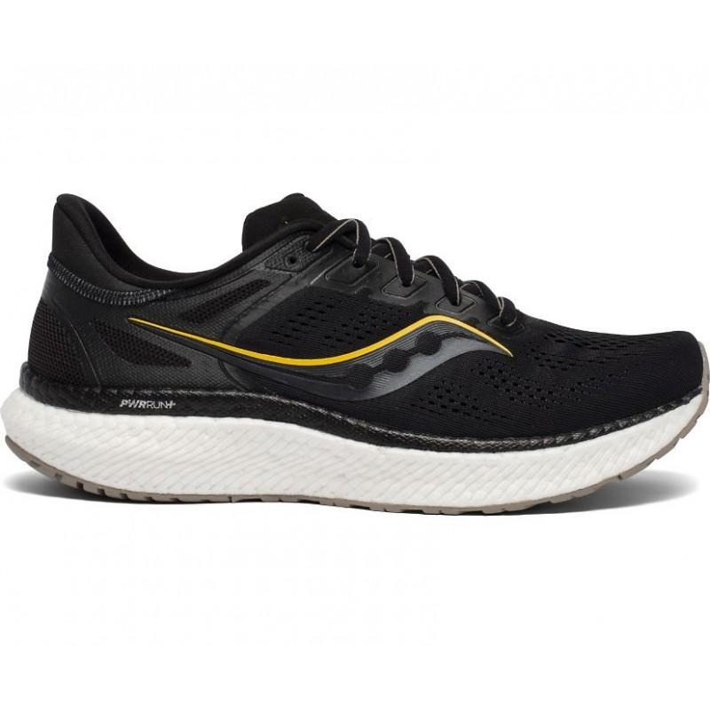 Saucony Hurricane 23 Wide Men's Running Shoe Black/ViziGold