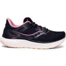 Saucony Hurricane 23 Wide Women's Running Shoe Black/Rose Water