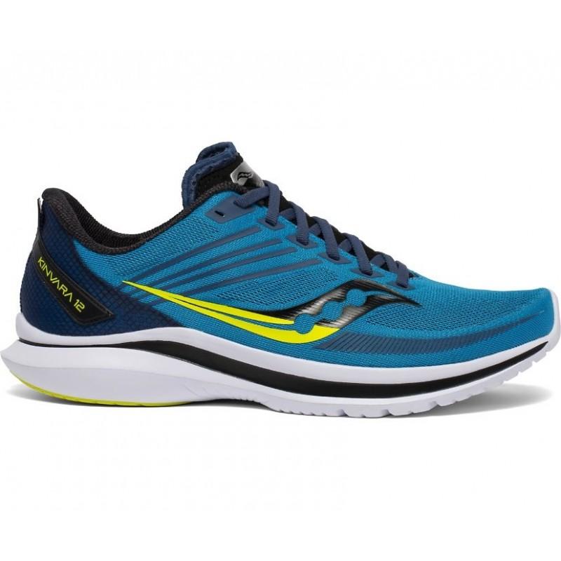 Saucony Kinvara 12 Wide Men's Running Shoe Cobalt/Citrus