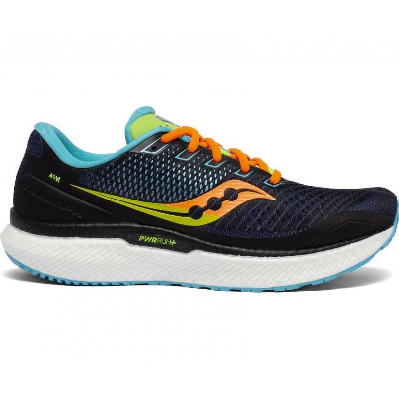Saucony Triumph 18 Wide Men's Running Shoe Future Black