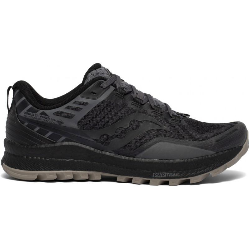 Saucony Xodus 11 Men's Running Shoe Black/Gravel