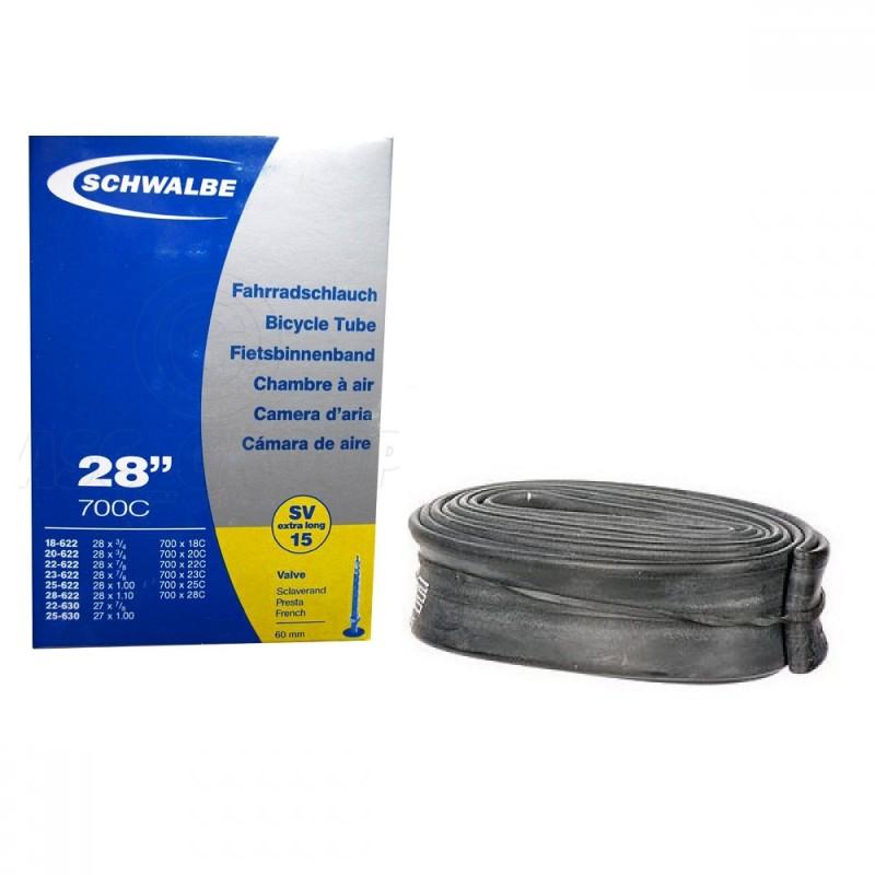 Schwalbe SV15 (700x18c-28c) 60mm Road tube presta valve