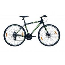 Suncross Innovate Hybrid Bike Black Neon Green Grey