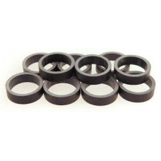 "Tangeseiki Alloy Spacer 10mm 1-1/8"" Black"