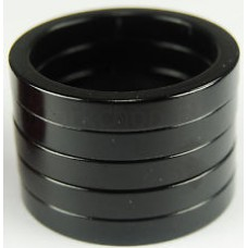 "Tangeseiki Alloy Spacer 15mm 1-1/8"" Black"