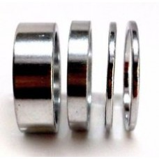 "Tangeseiki Alloy Spacer 15mm 1-1/8"" Silver"