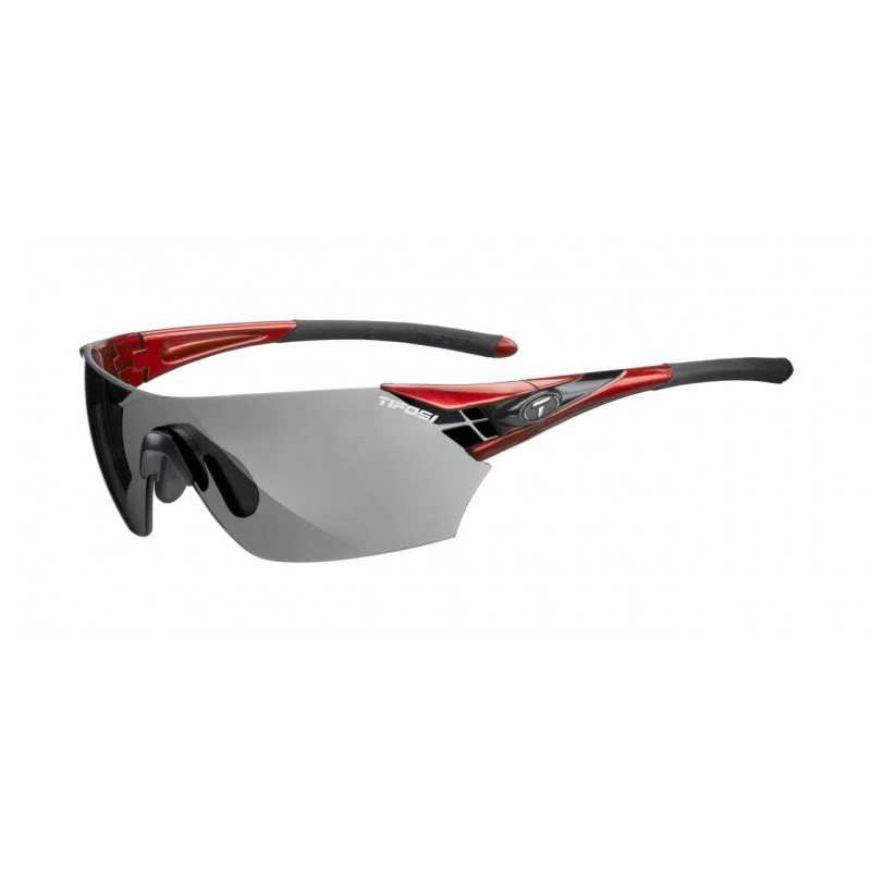 Tifosi Podium Metallic Red Cycling Glasses Smoke