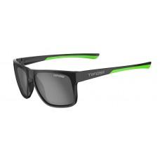 Tifosi Swick Satin Glasses Black/Neon (Smoke Polarized Lens)