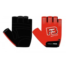 Track & Trail F3 Fabric Half Finger Gloves Black Red (AI-03-323)
