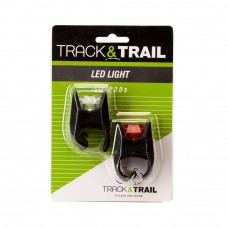 Track & Trail Front Light Strap 3 LED Set Black (JY-3005)