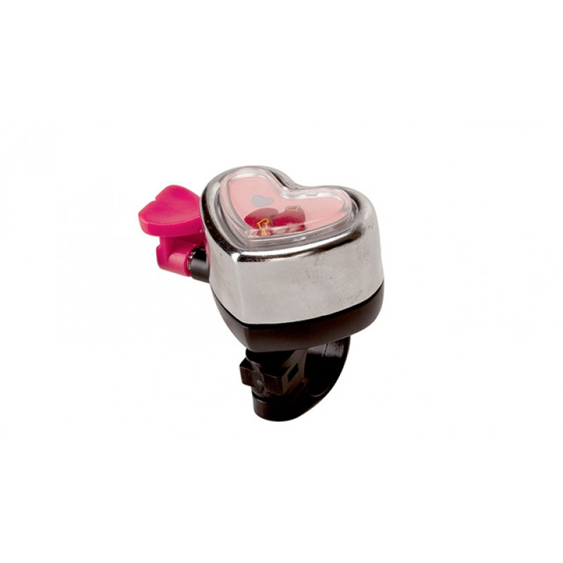 Track & Trail Heart Shape Bicycle Bell Silver