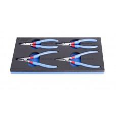 Unior Set of lock ring pliers in SOS tool tray - 964/8ASOS