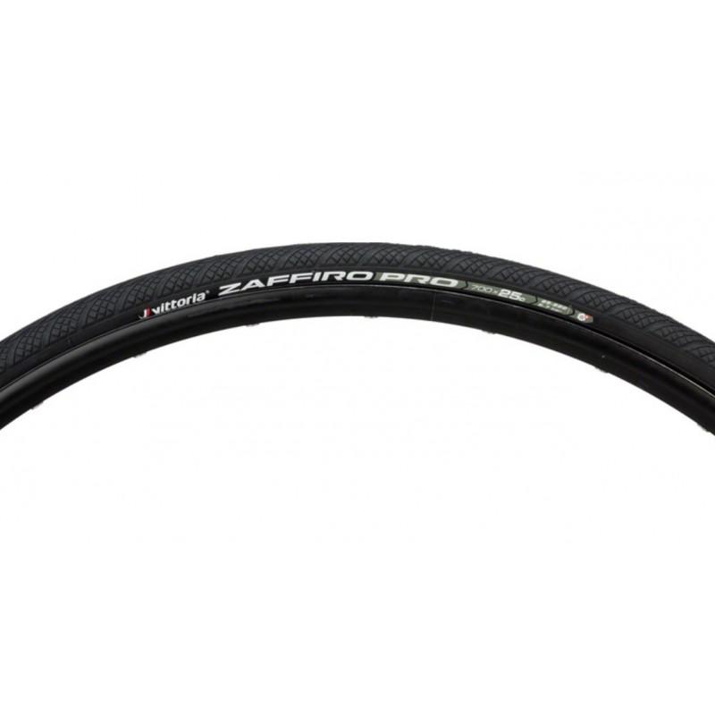 Vittoria 700x25c Zaffiro Pro IV G+ Foldable Road Bike Tyre Black