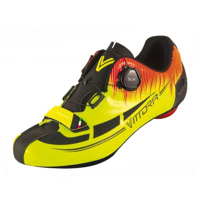 Vittoria Fusion Nylon Sole Road Cycling Shoe Yellow