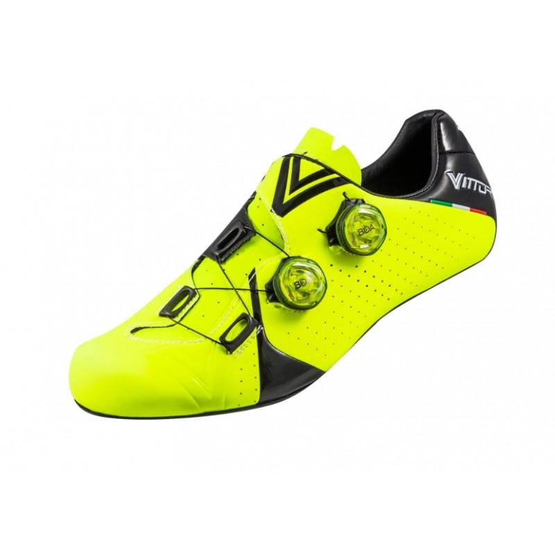 Vittoria Velar Carbon Sole Road Cycling Shoe Yellow Black