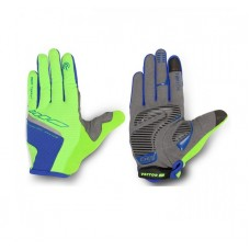 Viva Bike Touch Full Finger Cycling Gloves Green Blue
