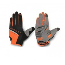 Viva Bike Touch Full Finger Cycling Gloves Orange Black