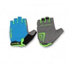 Viva Biker Half Finger Cycling Gloves Blue Black