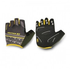 Viva Racer Half Finger Cycling Gloves Yellow Black
