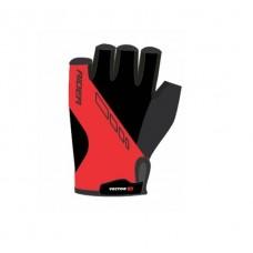 Viva Rider Half Finger Cycling Gloves Red Black