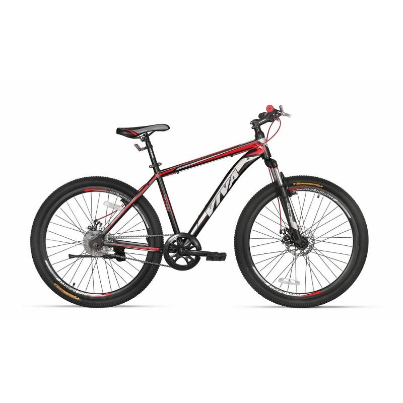 "Viva 1.0 SX 27.5"" Single Speed Disc Mountain Bike 2018 Black Red"